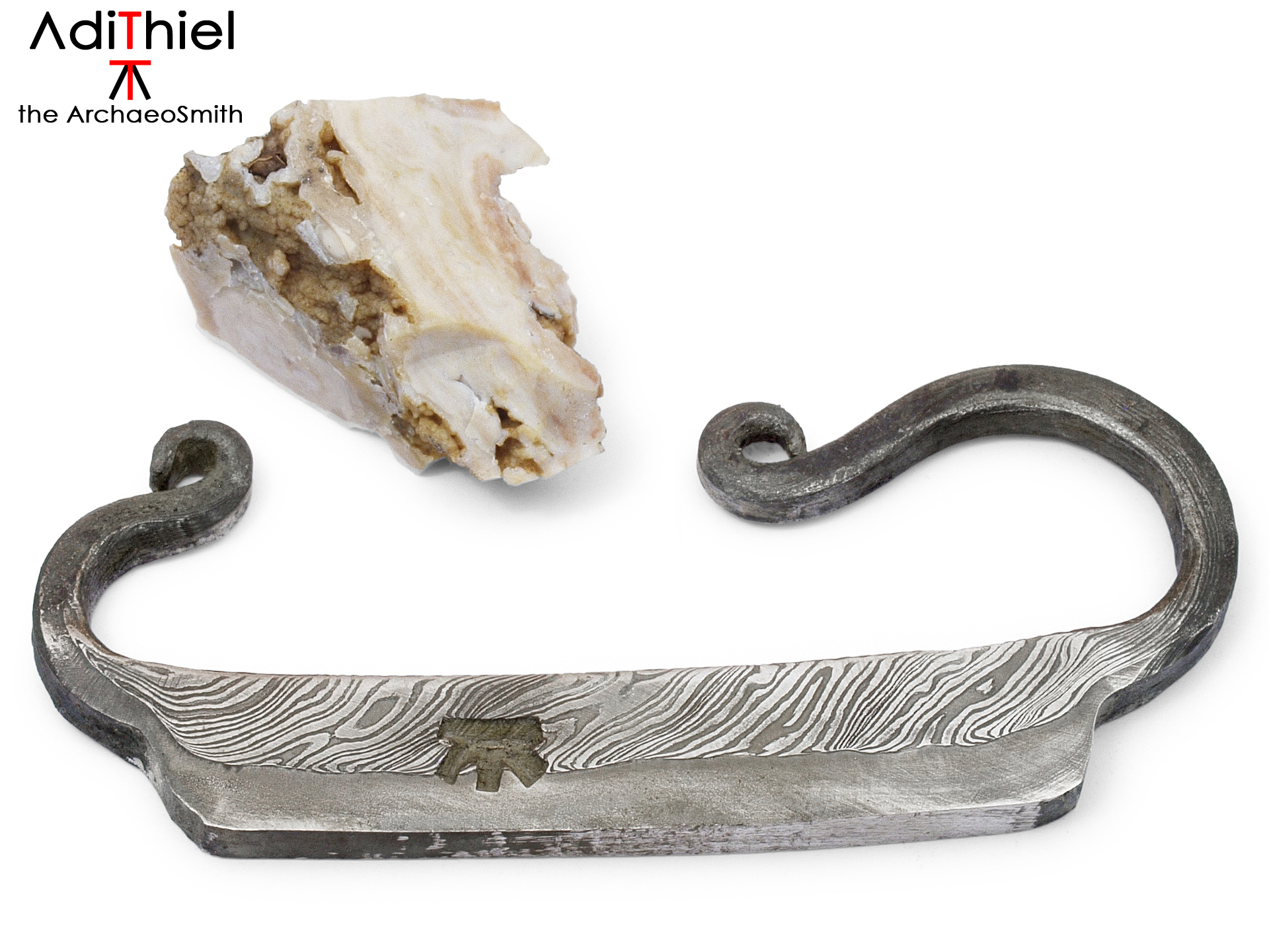 Damascus Steel Fire Striker and Flint Stone, FIRE STARTER